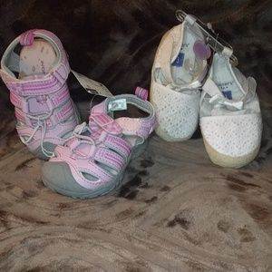 Baby shoes size 3 new with tags, have soda stain